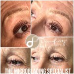 Microblading - Ultra fine feather stroke brows created using an ultra fine microblade.
